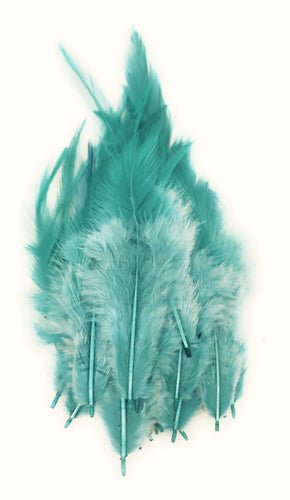 Buy online Light Shade of Teal Green Colour Long Pointed Feathers for Dream catchers | Utopian Craftsmen