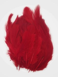 Buy online Blood Red Colour Chicken Feathers for Dream catchers | Utopian Craftsmen