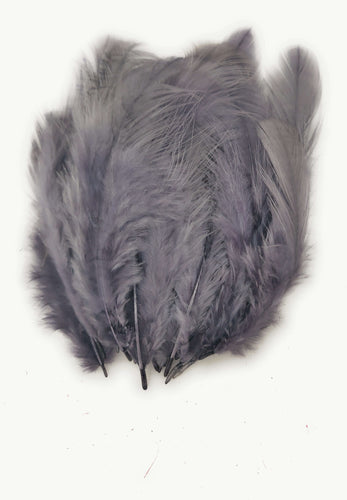 Buy online Dark Grey Colour Chicken Feathers for Dream catchers | Utopian Craftsmen