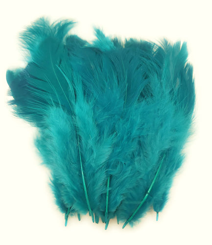 Buy online Shade of Teal Green Colour Chicken Feathers for Dream catchers | Utopian Craftsmen