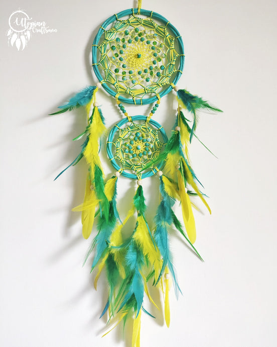 Green & Yellow Dreamcatcher by Utopian Craftsmen
