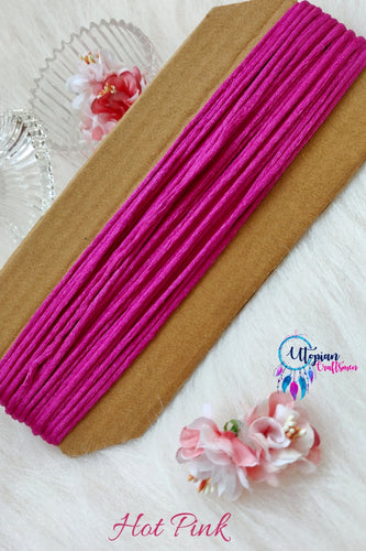Hot Pink Silk Cord/Thread (Malai Dori) by Utopian Craftsmen - 15 Metres - Utopian Craftsmen