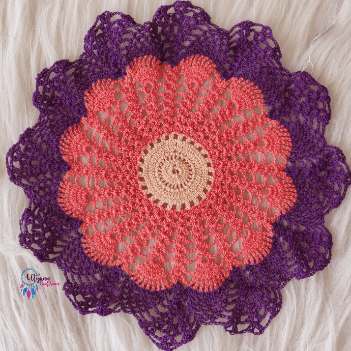 Handmade Multicolour 12 inches mercerised cotton crochet doilies