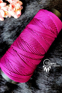 Hot Pink Colour Cone Thread for Weaving & Knitting - Approx 125 metres. - Utopian Craftsmen