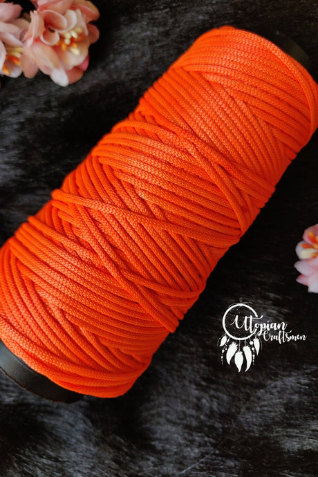 Neon Orange Colour Cone Thread for Weaving & Knitting - Approx 125 metres. - Utopian Craftsmen