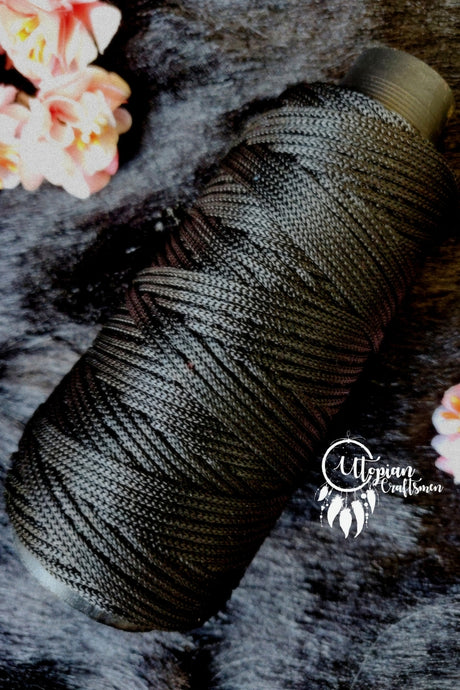 Black Colour Cone Thread for Weaving & Knitting - Approx 125 metres. - Utopian Craftsmen