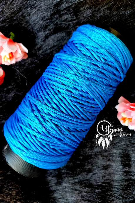Sky Blue Colour Purse Cone Thread for Weaving & Knitting - Approx 125 metres. - Utopian Craftsmen