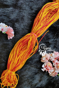 Orange & Red(Dual Shade) Colour Threads for Weaving & Knitting - Approx 125 metres. - Utopian Craftsmen