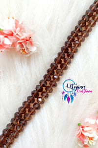 Faceted Shade of Brown Colour Beads 12mm -35 Pcs - Utopian Craftsmen