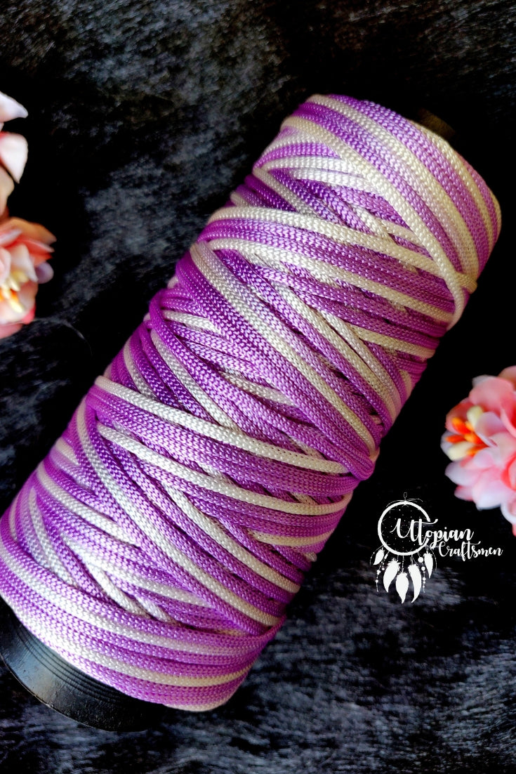 Purple White(Dual Shade) Colour Cone Thread for Weaving & Knitting - Approx 125 metres. - Utopian Craftsmen