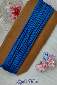 Blue Silk Cord/Thread (Malai Dori) by Utopian Craftsmen - 15 Metres - Utopian Craftsmen