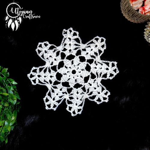 Handmade 6 inches White Colour Crochet Doilies - Mercerised Cotton - Utopian Craftsmen