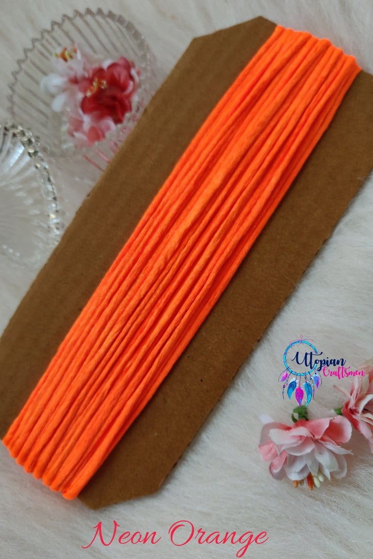 Neon Orange Silk Cord/Thread (Malai Dori) by Utopian Craftsmen - 15 Metres - Utopian Craftsmen