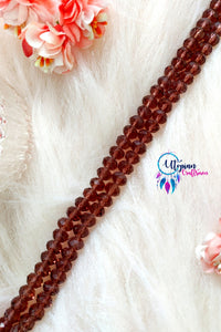 Faceted Shade of Brown Colour Beads 8mm -Approx 70 Pcs - Utopian Craftsmen
