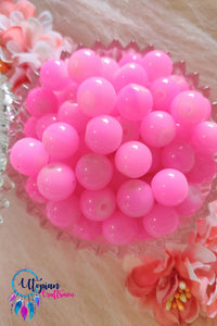 Round Shaded Light Pink Colour Glass Beads 10mm - Approx 35 Pcs - Utopian Craftsmen
