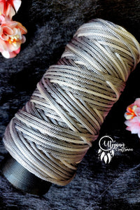 Grey White(Dual Shade) colour Cone Thread for Weaving & Knitting - Approx 125 metres. - Utopian Craftsmen