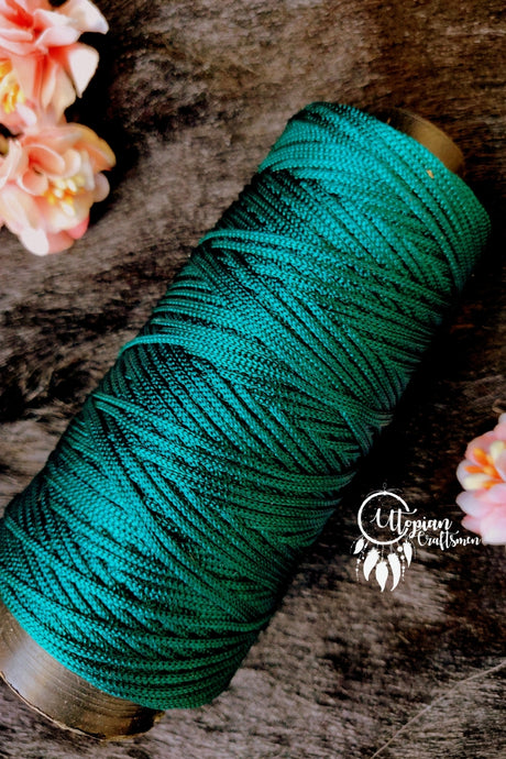 Teal Green colour Purse Cone Thread for Weaving & Knitting - Approx 125 metres. - Utopian Craftsmen