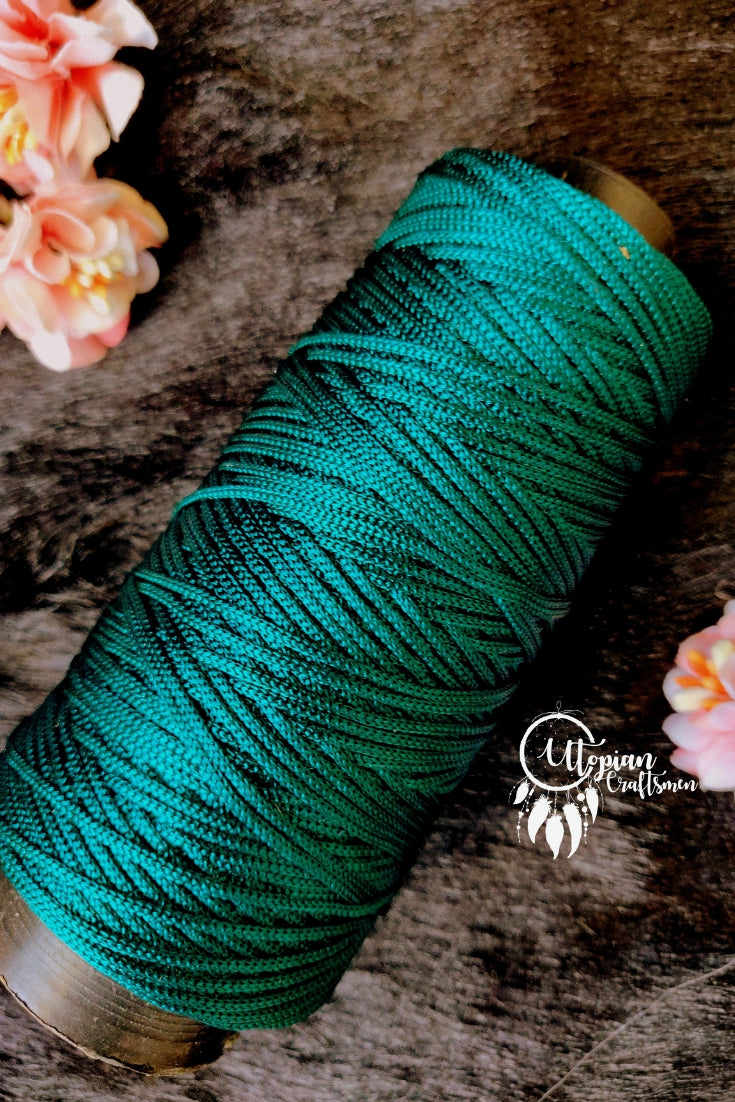 Green colour Cone Thread for Weaving & Knitting - Approx 125 metres. - Utopian Craftsmen