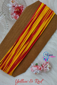 Yellow & Red Silk Cord/Thread (Malai Dori) by Utopian Craftsmen - 15 Metres - Utopian Craftsmen