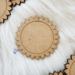 Sun Shaped Wooden MDF cutout