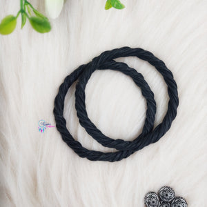 PREBOOKING - Set of 2 Rope Wreath Rings 3.5 inches Circular - Black Colour - Utopian Craftsmen