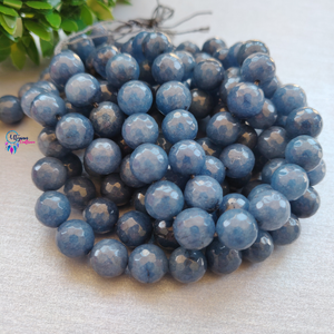 Blueberry Colour Round Agate Beads string - 10mm (Approx. 38 Beads) - Utopian Craftsmen