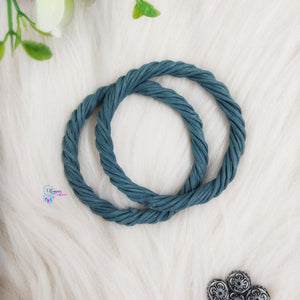 PREBOOKING - Set of 2 Rope Wreath Rings 3.5 inches Circular - Blue Grey Colour - Utopian Craftsmen