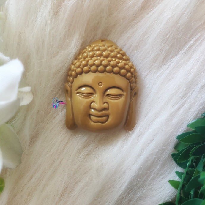 Brown Colour Buddha Shape Acrylic Beads 2 inches by 1.5 inches - Utopian Craftsmen