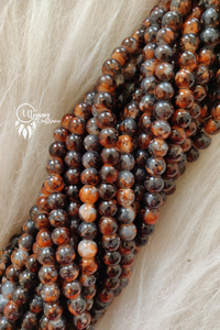 Brown Orange Shaded Colour Round Glass Beads by Utopian Craftsmen - 8mm (50 Pieces) - Utopian Craftsmen