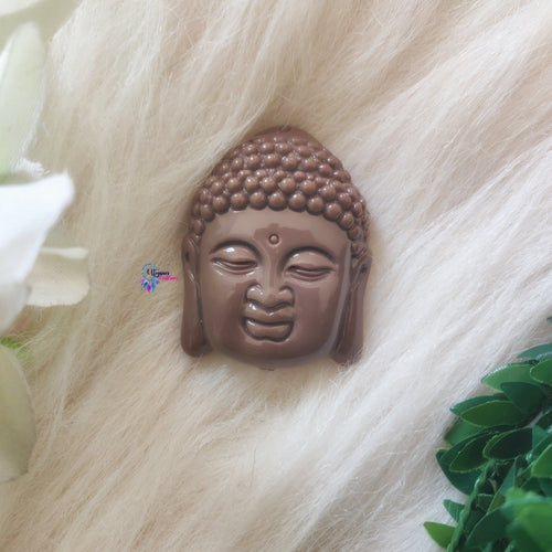 Brown Purple Mix Colour Buddha Shape Acrylic Beads 2 inches by 1.5 inches - Utopian Craftsmen