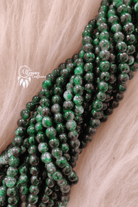 Dark Green Grey Shaded Colour Round Glass Beads by Utopian Craftsmen - 8mm (50 Pieces) - Utopian Craftsmen