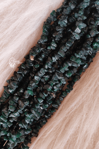 Dark Green Shaded Colour 6-10 mm Chipped Glass Beads -Approx 80 Pcs - Utopian Craftsmen