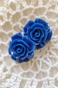 Blue Colour Flower Shape Acrylic Beads (2 Pieces) - Size 1 inches - Utopian Craftsmen