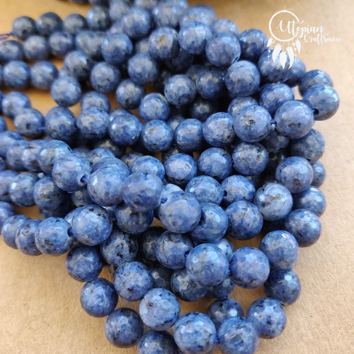 Shaded Blueberry Galaxy Colour Round Agate Beads string - 8mm (Approx. 45 Pieces) - Utopian Craftsmen