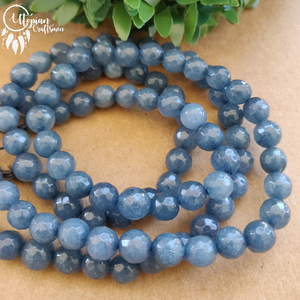 Dark Shaded Colour Round Agate Beads string - 8mm (Approx. 45 Pieces) - Utopian Craftsmen