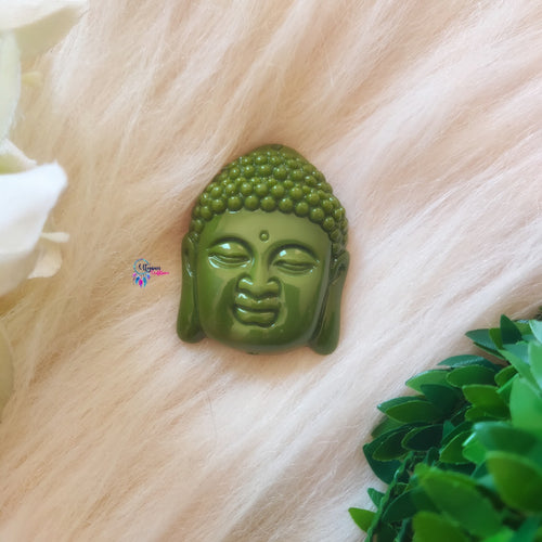 Green Colour Buddha Shape Acrylic Beads 2 inches by 1.5 inches - Utopian Craftsmen