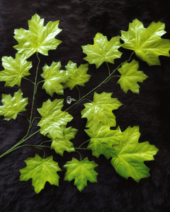 Green Colour Maple Leaves Artificial flowers online for Crafts, Home Decor and Wedding Decor