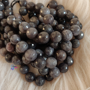Grey Shaded Colour Round Agate Beads string - 12mm (30+ Beads) - Utopian Craftsmen