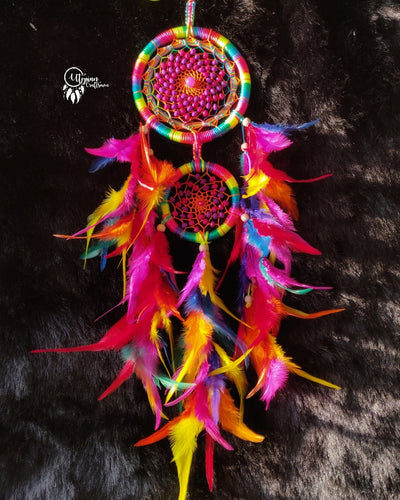 Neon Multicoloured Dreamcatcher by Utopian Craftsmen