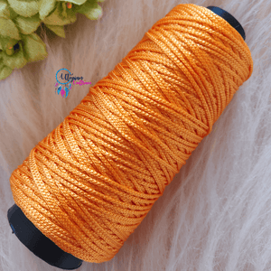 Light Orange Colour Cone Thread for Weaving & Knitting - Approx 125 metres. - Utopian Craftsmen