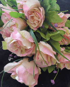 Light Pink and Cream Colour Rose Artificial Flowers online for Crafts, Home Decor and Wedding Decor