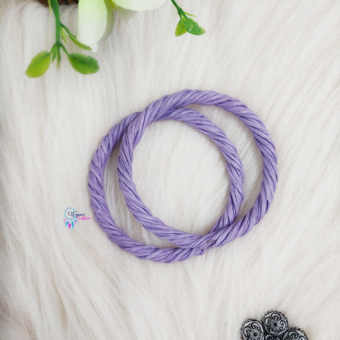 PREBOOKING - Set of 2 Rope Wreath Rings 3.5 inches Circular - Light Purple Colour - Utopian Craftsmen