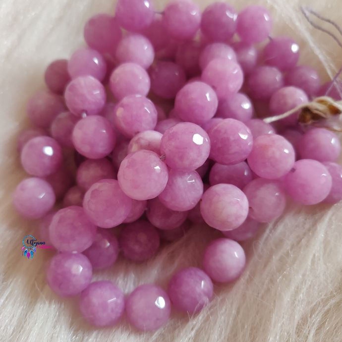Light Purple Shaded Colour Round Agate Beads string - 12mm (30+ Beads) - Utopian Craftsmen