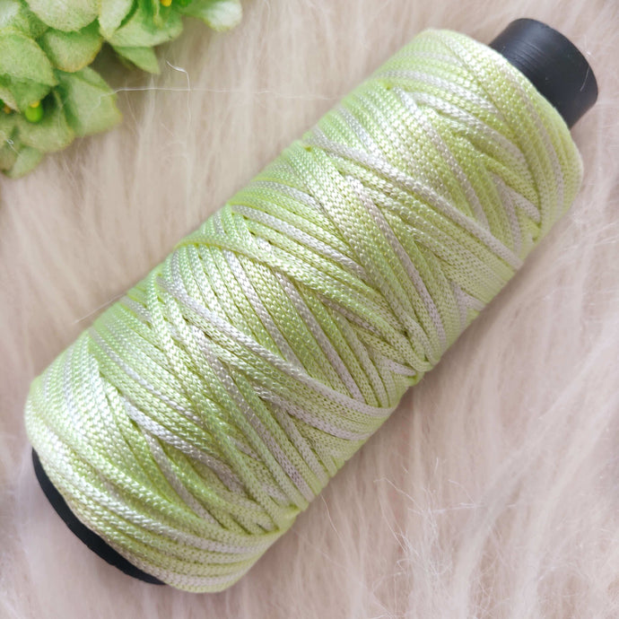 Light shade of green white Colour Cone Thread for Weaving & Knitting - Approx 125 metres. - Utopian Craftsmen