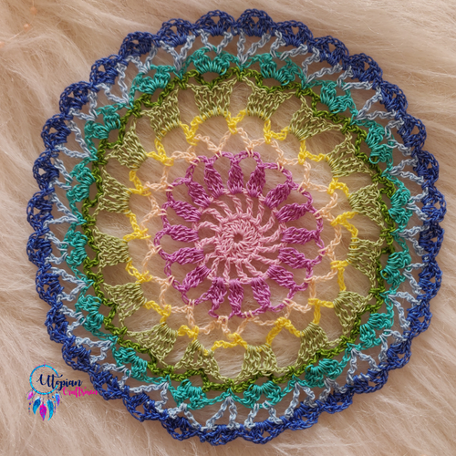 Handmade 7 inches MultiColour Crochet Doilies - Mercerised Cotton - Utopian Craftsmen