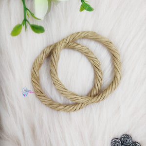 PREBOOKING - Set of 2 Rope Wreath Rings 3.5 inches Circular - Natural Brown Colour - Utopian Craftsmen