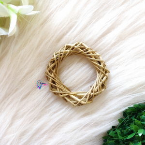Natural Colour cane Ring/Hoop Approx3-3.5 inches - Utopian Craftsmen