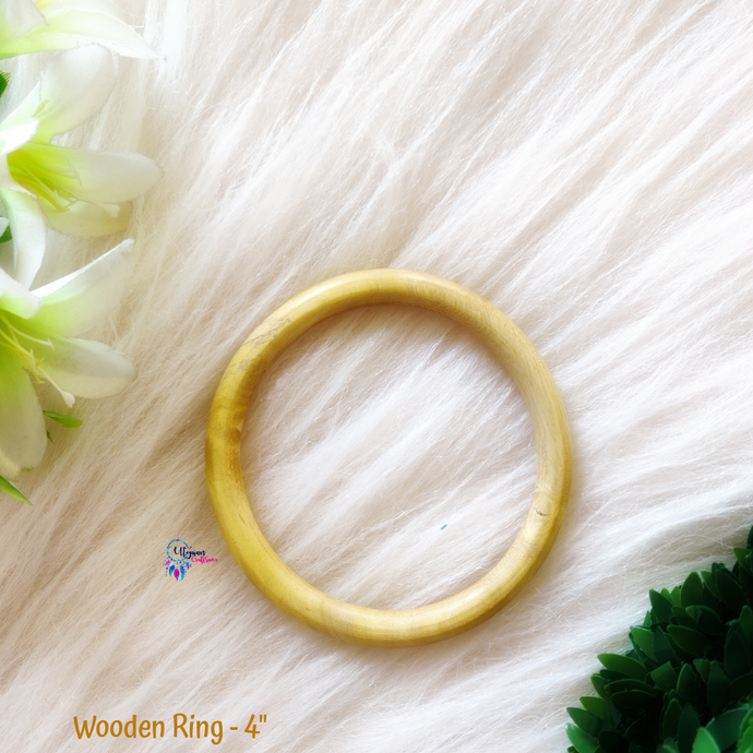 Natural Colour wooden Ring/Hoop 4inches - Utopian Craftsmen