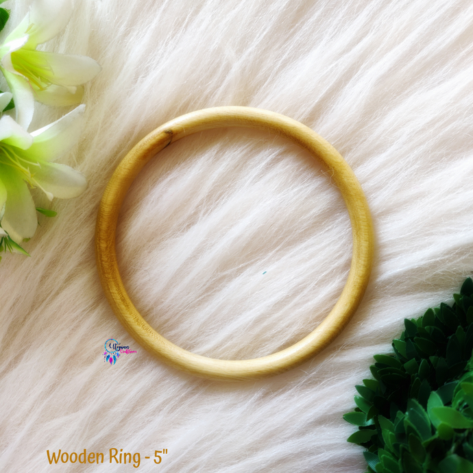 Natural Colour wooden Ring/Hoop 5 inches - Utopian Craftsmen