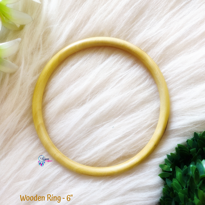 Natural Colour wooden Ring/Hoop 6 inches - Utopian Craftsmen